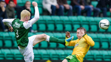 Ryan McGivern against Celtic in October 2013.