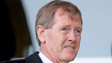 Dave King in the stand for the Rangers v East Fife match during his visit to Scotland.