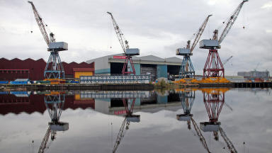 BAE Systems Govan shipyard which has been affected by the loss of 800 jobs