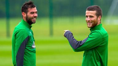 Celtic and Wales pair Joe Ledley (left) and Adam Matthews