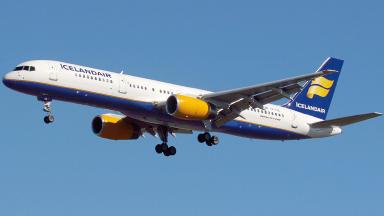Icelandic Icelandair Boeing 757-200 passenger plane. Image from Wikipedia