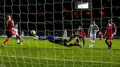 Kris Commons goal, Celtic 3-1 Aberdeen, November 2013.