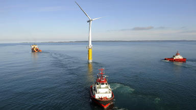 Hywind project will see five turbines operate in waters around 12 miles off the coast of Peterhead, Aberdeenshire.  With a total capacity of 30MW, the scheme would be the largest floating wind project in Europe
