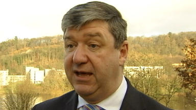 Alistair Carmichael, Scottish Secretary, January 2014. STV screengrab.
