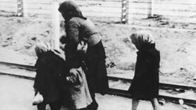 Concentration camp: A family are taken to Auschwitz.