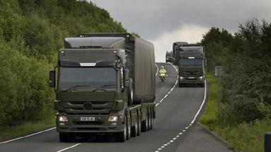 Convoy: Weapons transported through Stirling (file pic).