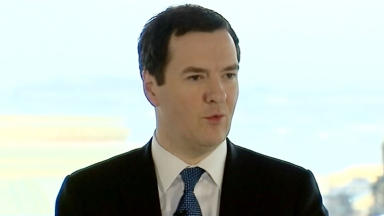 George Osborne speaking in Edinburgh February 13 2014