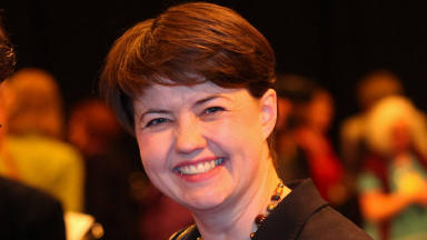 Ruth Davidson: Hopes Tories can be second biggest party (file pic).