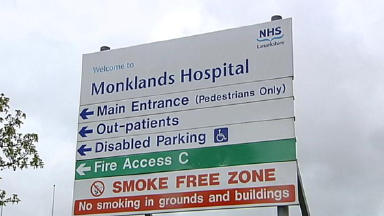 Monklands Hospital: At risk of losing dermatology ward.
