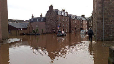Flooding: Residents had to be evacuated after the River Carron burst its banks in 2009.