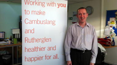 Brendan Rooney from the Cambuslang and Rutherglen Community Health Initiative