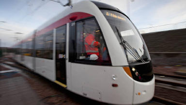 First Edinburgh tram trial