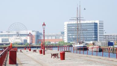 Ocean Terminal Shopping Centre on Leith Docks