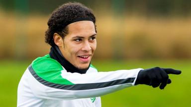 Virgil van Dijk in training with Celtic