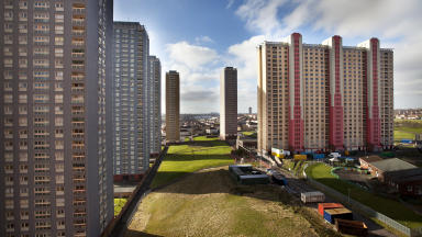 Red Road Flats in north Glasgow.