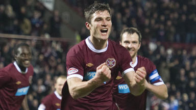 Hearts striker John Sutton.