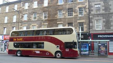 Attack: The shot was fired at a Lothian bus.