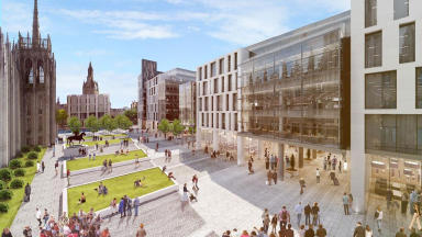 Marischal Square's final design, by Muse