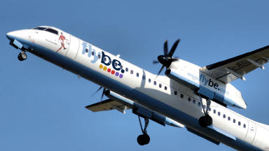 Flybe bombardier Dash8 dash-eight passenger plane. Public Domain quality image no attribution required