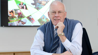 Ian Wood: Major donation to found new development body.