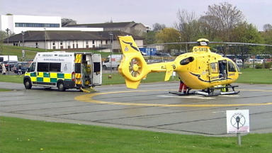 ARI: Man airlifted to hospital.
