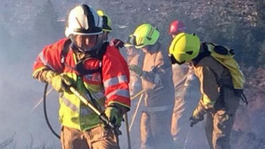 Wildfire: Firefighters described the incident as 'physically demanding '(file pic).