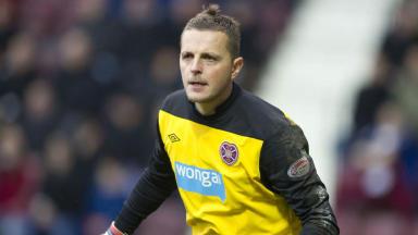 Hearts goalkeeper Marian Kello.