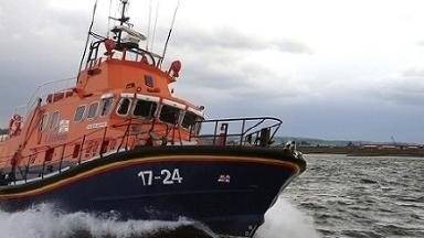 Rescue: The Aberdeen lifeboat rescued the man from the Siemanis .
