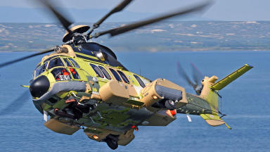 Super Puma: Helicopters grounded in UK (file pic).