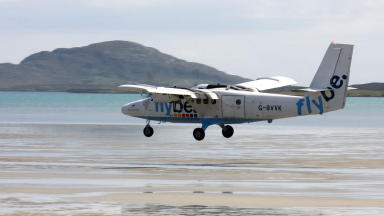 Barra: Passenger numbers rise in beach airport's 80th year (file pic).