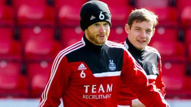 Aberdeen's Mark Reynolds (left), Peter Pawlett (centre)