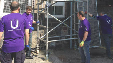 Aberdeen Cyrenians volunteers.