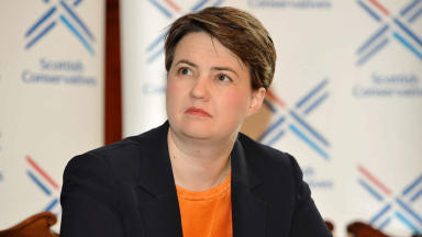 Scottish Conservative leader Ruth Davidson, in Glasgow, June 2, 2014 Quality image