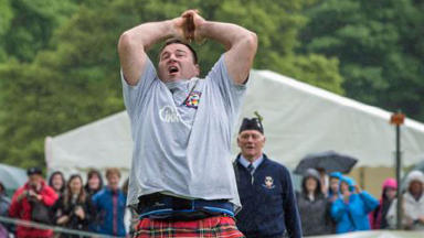 Highland Games caber tosser