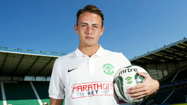 Scott Allan, Hibernian, July 2014.