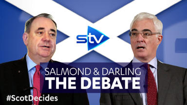 Salmond and Darling: The Debate graphic.