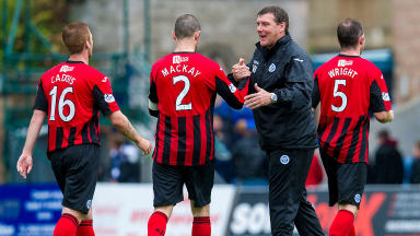 Happy to hang around: Tommy Wright has signed a new three-year deal with St Johnstone