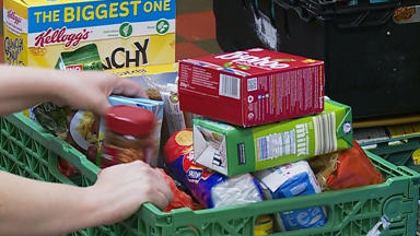 Foodbanks: Surge in demand due to schools closures (file pic).