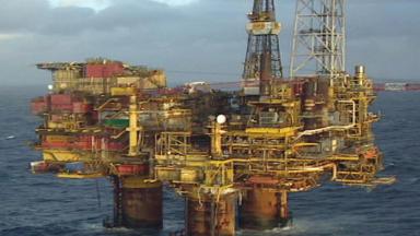 Shell Brent Bravo oil platform.