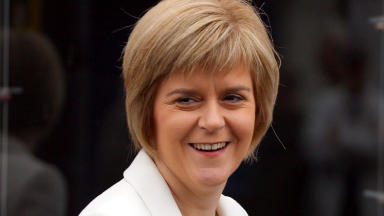 In charge: Sturgeon takes control of the SNP.