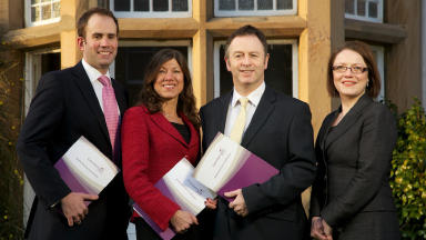 Neil Freshwater, Francoise Pickard, Graham Eden and Contempo Lettings' managing director, Carolyn Donaldson.