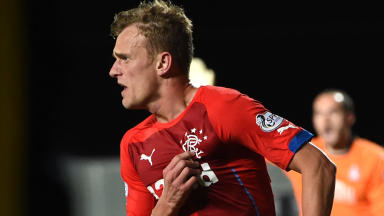 Rangers ace Dean Shiels celebrates after firing the visitors into the lead