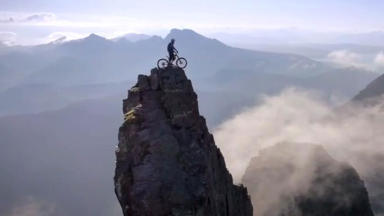 Danny MacAskill The Ridge mountain top image Skye October 2 2014