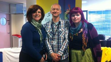 Launch: Margaret Scott, John Coster and Jennifer Jones at the #CitizenRelay launc