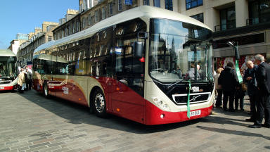 Much-valued: Lothian Buses will be kept in public ownership.