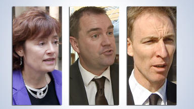 Scottish Labour leadership contenders Sarah Boyack, Neil Findlay and Jim Murphy Uploaded Novembre 4 2014