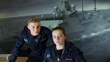 Two BAE Systems apprentices as firm launches new recruitment drive. Image from BAE November 5 2016.