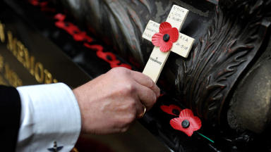 Remembrance Sunday: Memorial in Tullibody was defaced two days before.