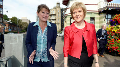 Freedom fighters: Leanne Wood and Nicola Sturgeon at SNP conference.