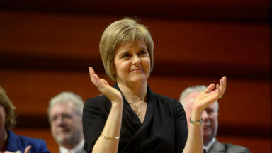 On the offensive: First Minister ready to attack Labour.